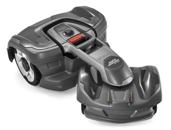Automower 435X AWD top view showing turning function