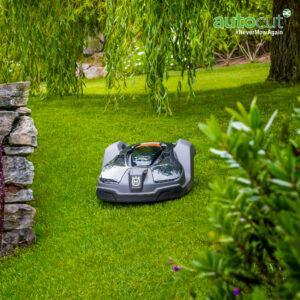 Automower 450X on lawn